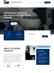Designed Website for THE SMART LOGISTICS