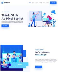 Designed Website for PixelAp